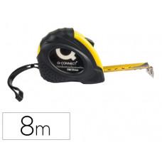 FLEXOMETRO Q-CONNECT DE 8 MT CON FRENO MATERIAL ANTICHOQUE 25 MM DE ANCHO