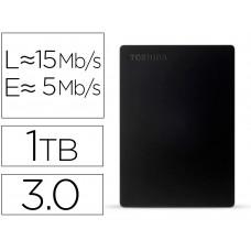 "DISCO DURO EXTERNO TOSHIBA CANVIO SLIM HDD 2,50"" 5.000 MBIT/S USB 3.0 1 TB COLOR NEGRO"