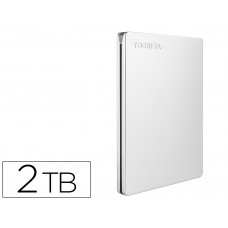 "DISCO DURO EXTERNO TOSHIBA CANVIO SLIM HDD 2,50"" 5.000 MBIT/S USB 3.0 2 TB COLOR BLANCO"