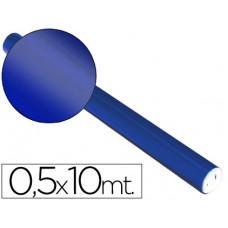 PAPEL METALIZADO AZUL ROLLO CONTINUO DE 0,5 X 10 MT