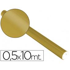 PAPEL METALIZADO ORO ROLLO CONTINUO DE 0,5 X 10 MT