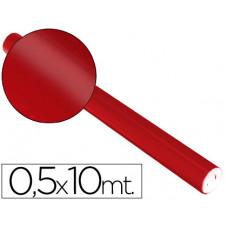 PAPEL METALIZADO ROJO ROLLO CONTINUO DE 0,5 X 10 MT