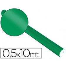PAPEL METALIZADO VERDE ROLLO CONTINUO DE 0,5 X 10 MT