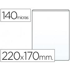 FUNDA PORTACARNET Q-CONNECT CUARTO 140 MICRAS PVC TRANSPARENTE 220X170MM