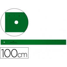 REGLA FABER 100 CM PLASTICO VERDE