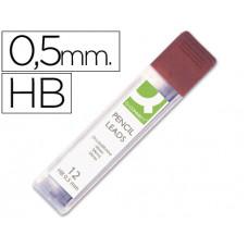 MINAS Q-CONNECT GRAFITO 0.5 HB -ESTUCHE DE 12 MINAS