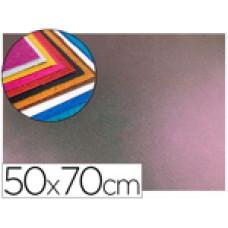 GOMA EVA CON PURPURINA LIDERPAPEL 50X70CM 60G/M2 ESPESOR 2 MM BICOLOR ROSA VERDE