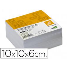 TACO LIDERPAPEL ENCOLADO 100 X 100 X 60MM BLANCO