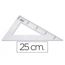 CARTABON LIDERPAPEL 25 CM PLASTICO CRISTAL