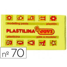 PLASTILINA JOVI 70 AMARILLO CLARO -UNIDAD -TAMAÑO PEQUEÑO
