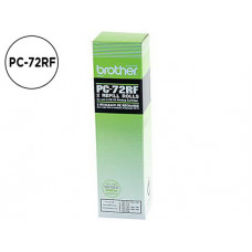 Cinta de transferencia térmica  Brother PC72RF Original Pack de 2 unidades Negro 140 Pag