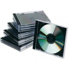 CAJA DE CD Q-CONNECT -CON INTERIOR NEGRO -PACK DE 10 UNIDADES
