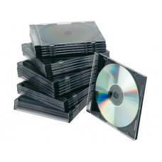 CAJA DE CD Q-CONNECT SLIM -CON INTERIOR NEGRO -PACK DE 25 UNIDADES