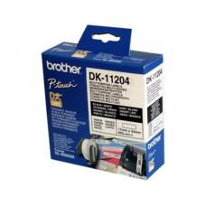 ETIQUETA ADHESIVA BROTHER DK11204 -TAMAÑO 17X54 MM PARA IMPRESORAS DE ETIQUETAS QL -400 ETIQUETAS-