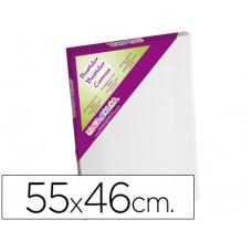 BASTIDOR LIDERCOLOR 10F LIENZO GRAPADO LATERAL ALGODON 100% MARCO PAWLONIA 1,8X3,8 CM BORDES MADERA 55X46 CM
