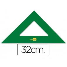ESCUADRA LIDERPAPEL 32 CM ACRILICO VERDE