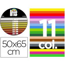 "CARTULINA GUARRO 50X65 CONTENIDO ""B"" 25 HOJAS X 11 COLORES 185GRS"