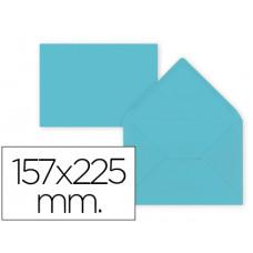 SOBRE LIDERPAPEL C5-EA5 AZUL CELESTE 157X225MM 80 GR PACK DE 9 UNIDADES