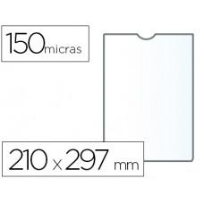 FUNDA PORTADOCUMENTO Q-CONNECT DIN A4 150 MICRAS PVC TRANSPARENTE 210X297 MM