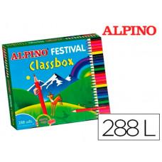 LAPICES DE COLORES ALPINO FESTIVAL CLASSBOX CAJA DE 288 UNIDADES 12 COLORES SURTIDOS