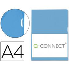 CARPETA DOSSIER UÑERO PLASTICO Q-CONNECT DIN A4 120 MICRAS AZUL CAJA DE 100 UNIDADES