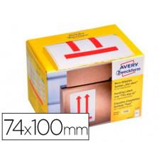 ETIQUETA ADHESIVA AVERY ALTO 74X100 MM ROLLO DE 200 UNIDADES