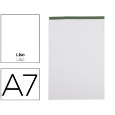BLOC NOTAS LIDERPAPEL LISO A7 80 HOJAS 60 G/M2 PERFORADO SIN TAPA