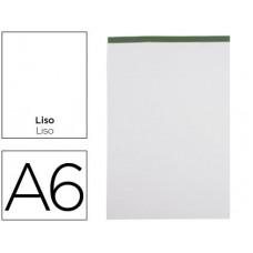BLOC NOTAS LIDERPAPEL LISO A6 80 HOJAS 60 G/M2 PERFORADO SIN TAPA
