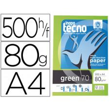 PAPEL FOTOCOPIADORA TECNO GREEN 100% RECICLADO DIN A4 80 GRAMOS PAQUETE DE 500 HOJAS