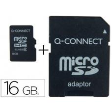 MEMORIA SD MICRO Q-CONNECT FLASH 16 GB CLASE 6 CON ADAPTADOR