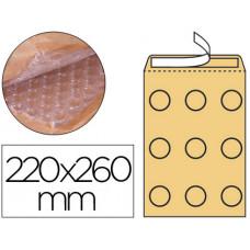 SOBRE BURBUJAS CREMA Q-CONNECT E/2 220 X 260 MM CAJA DE 100