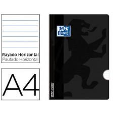 LIBRETA ESCOLAR OXFORD OPENFLEX TAPA FLEXIBLE OPTIK PAPER 48 HOJAS DIN A4 RAYADO HORIZONTAL COLOR NEGRO