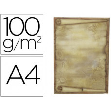 PAPEL PERGAMINO LIDERPAPEL DIN A4 DIPLOMA 100 G/M2 PAQUETE DE 12 HOJAS