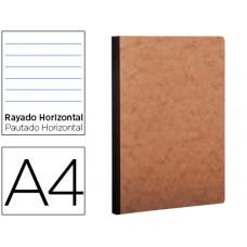 LIBRETA AGE-BAG TAPA CARTULINA LOMO COSIDO RAYADO HORIZONTAL 96 HOJAS COLOR HAVANA 210X297 MM