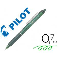 BOLIGRAFO PILOT FRIXION CLICKER BORRABLE 0,7 MM COLOR VERDE CLARO EN BLISTER