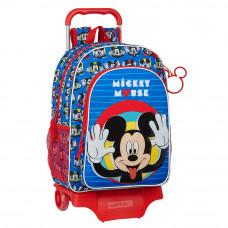 Mochila (mod. 180) con carro (mod. 905) Safta Mickey Mouse Me Time (Ref. 612114313)