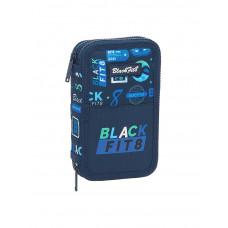 Plumier doble 28 piezas Mod. 854 Safta BlackFit8 Logos Retro (Ref. 442141854)