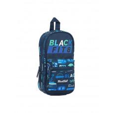 Plumier vacío forma mochila Mod. 847 Safta BlackFit8 Logos Retro (Ref. 442141847)