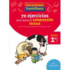 70 EJERCICIOS COMPRENSION LECTORA 1ºEP 06 VACACIONES